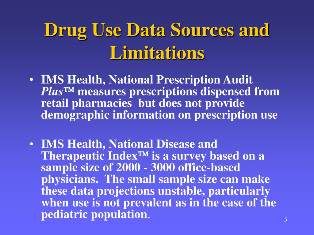 Drug Use Data Sources and Limitations