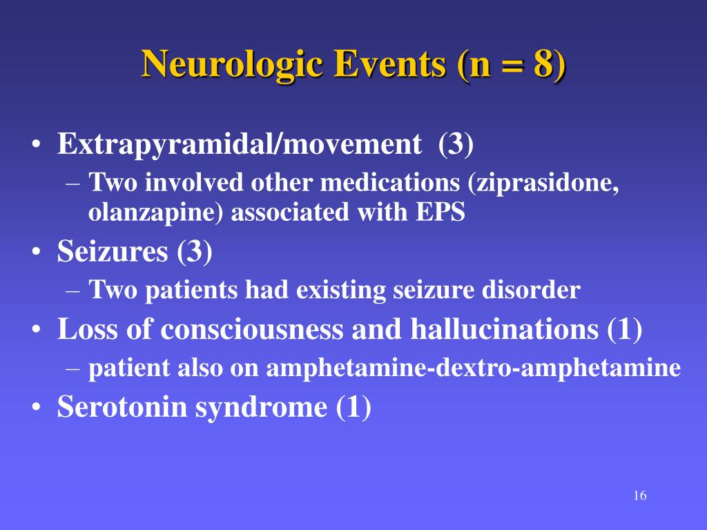 Neurologic Events (n = 8)