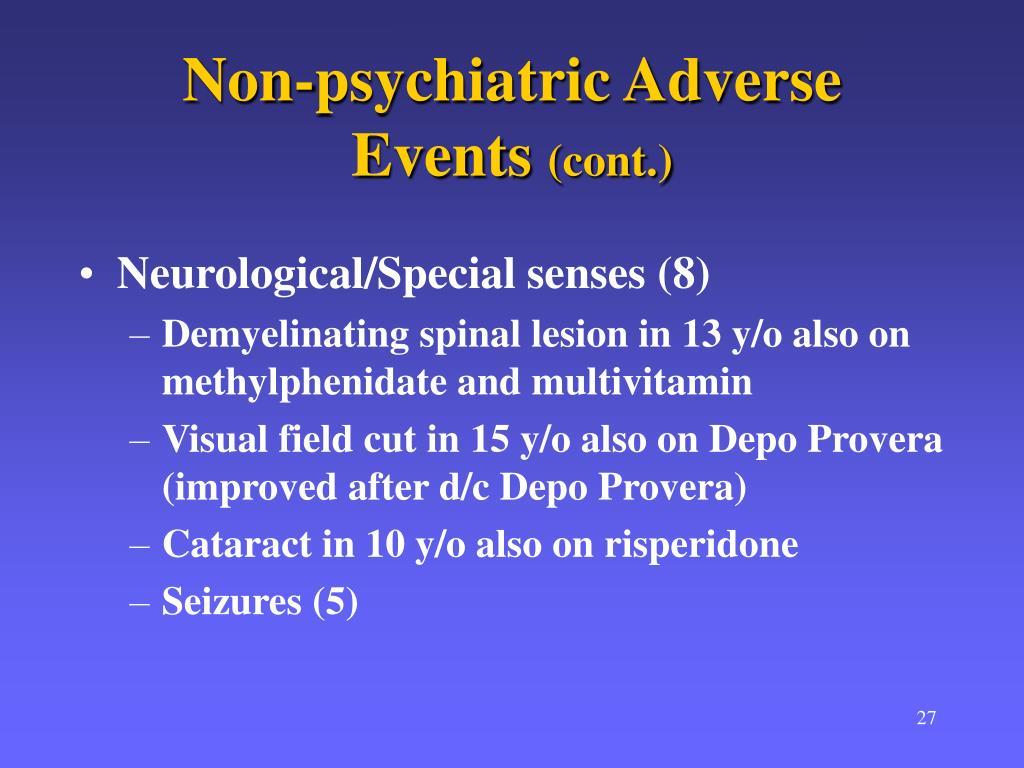 Non-psychiatric Adverse Events