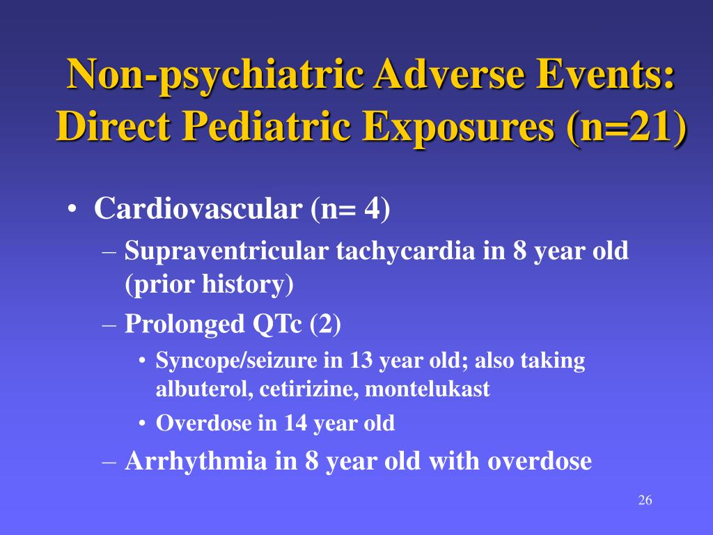 Non-psychiatric Adverse Events: