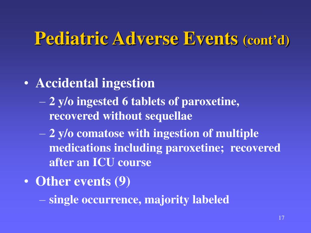 Pediatric Adverse Events