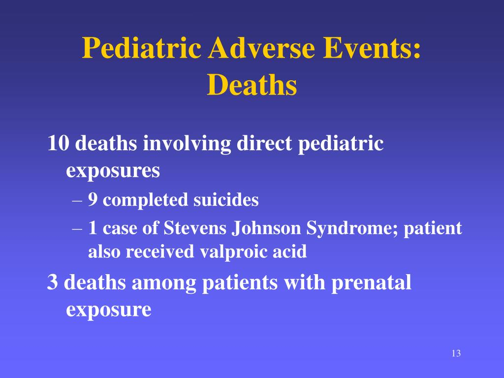 Pediatric Adverse Events:  Deaths