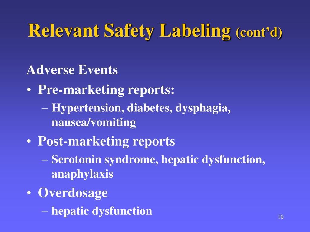 Relevant Safety Labeling