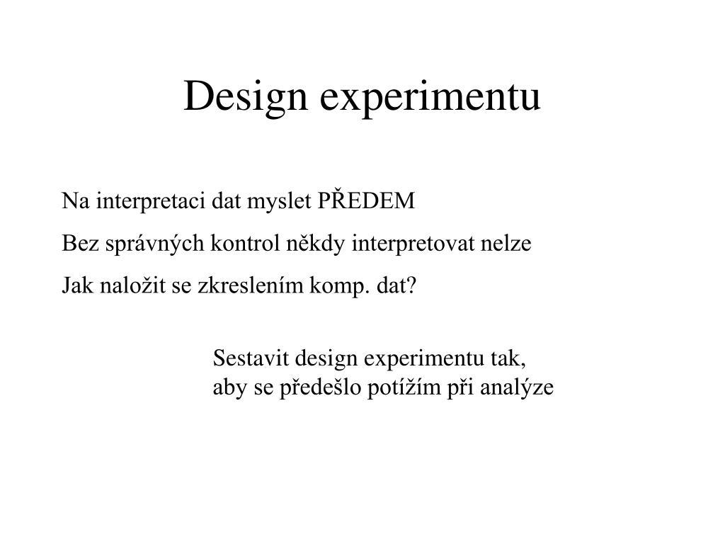 Design experimentu