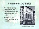 premiere of the ballet