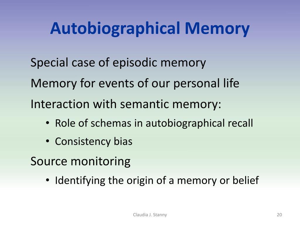 Autobiographical Memory