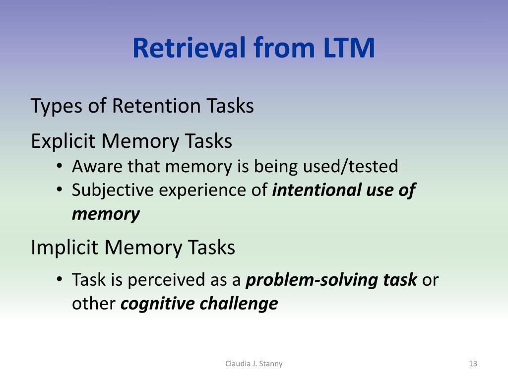 Retrieval from LTM