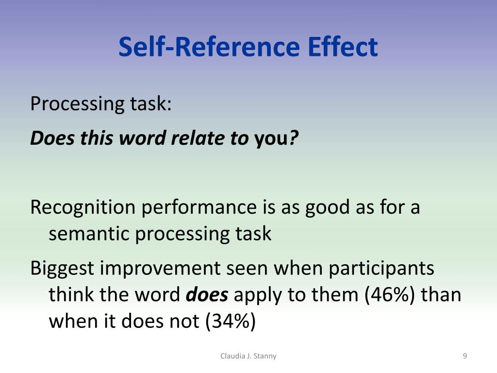 Self-Reference Effect