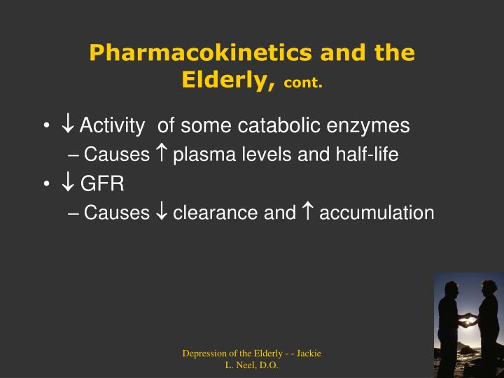 Pharmacokinetics and the Elderly,
