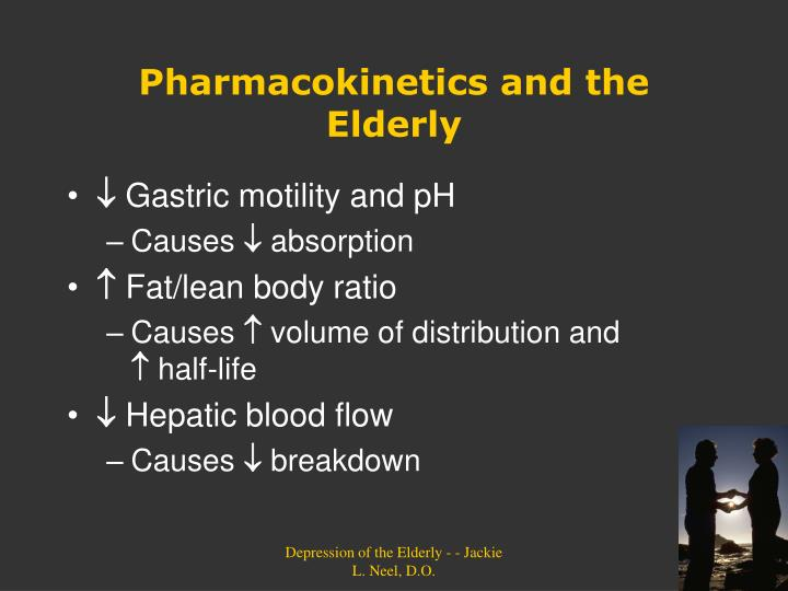 Pharmacokinetics and the Elderly