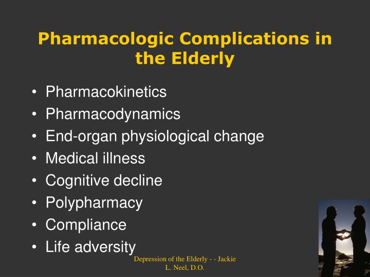 Pharmacologic Complications in the Elderly