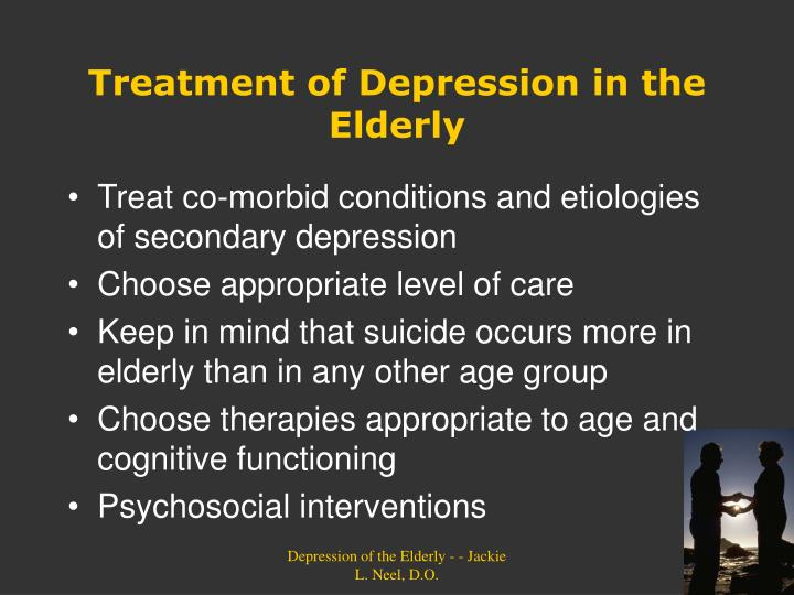 Treatment of Depression in the Elderly