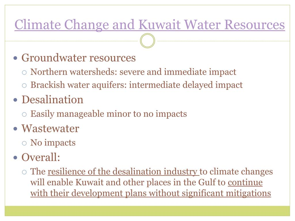 Climate Change and Kuwait Water Resources