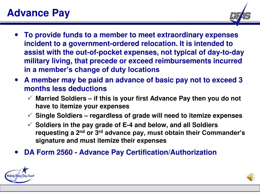 Advance Pay