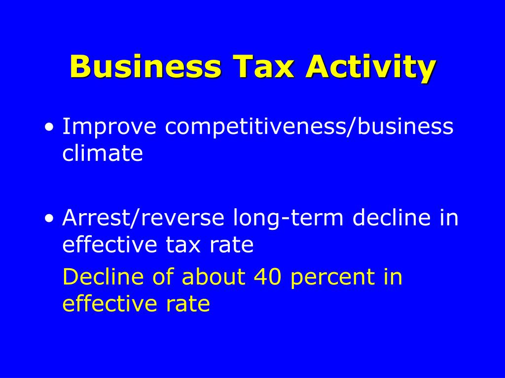 Business Tax Activity