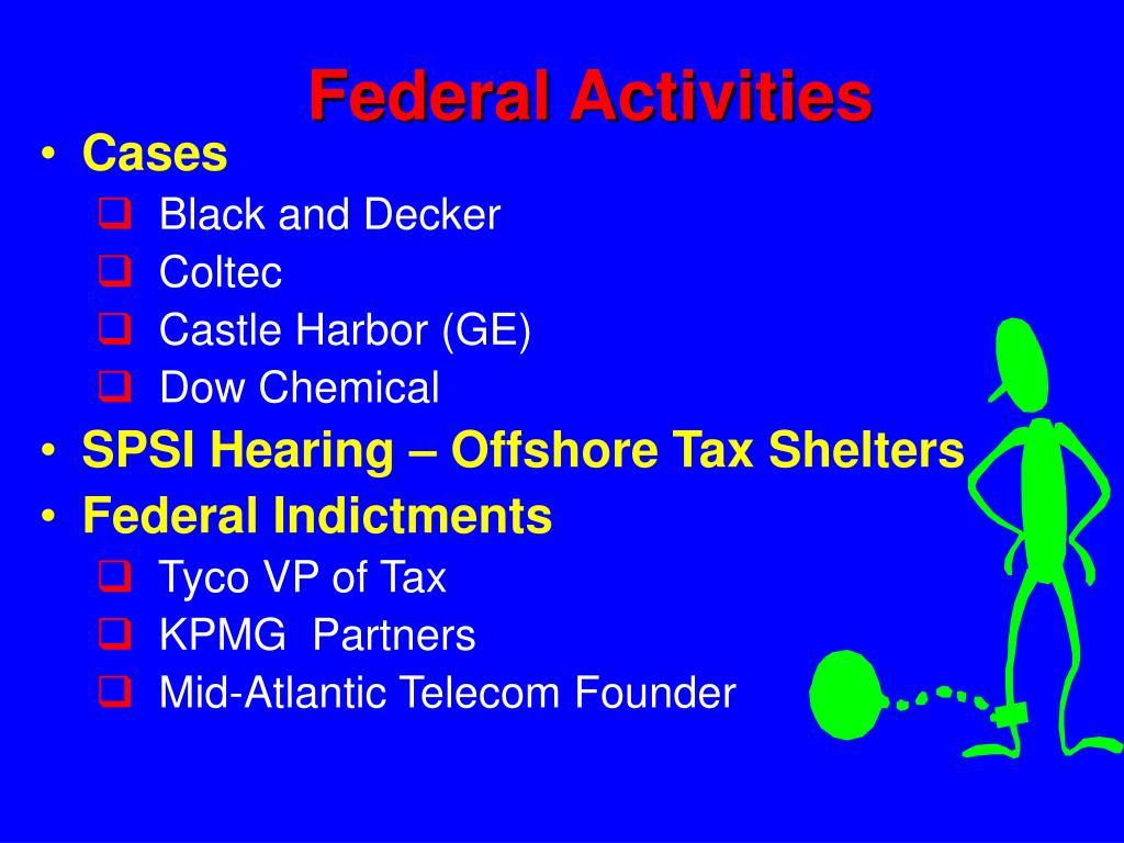 Federal Activities