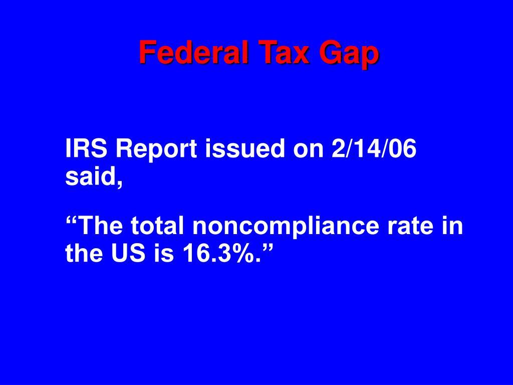 Federal Tax Gap