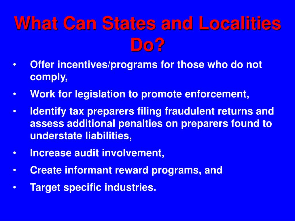 What Can States and Localities Do?