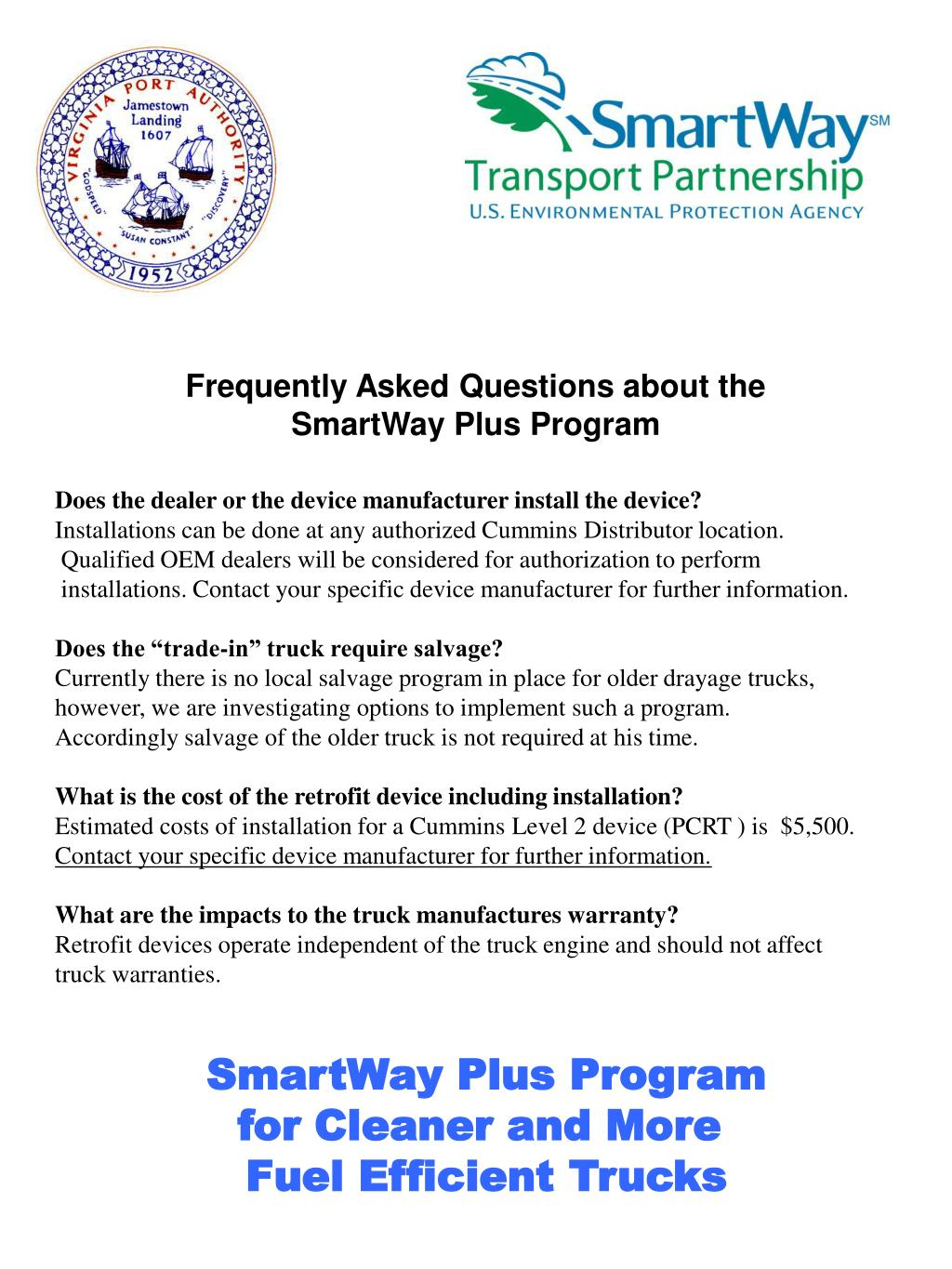 Frequently Asked Questions about the