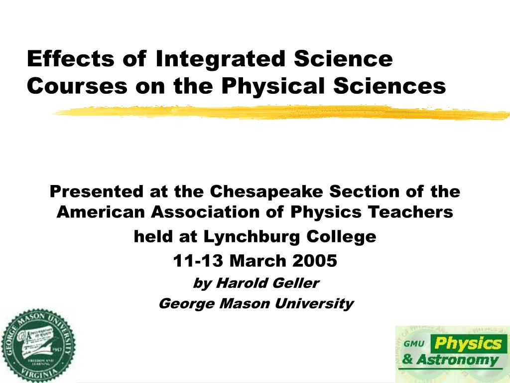 Effects of Integrated Science Courses on the Physical Sciences