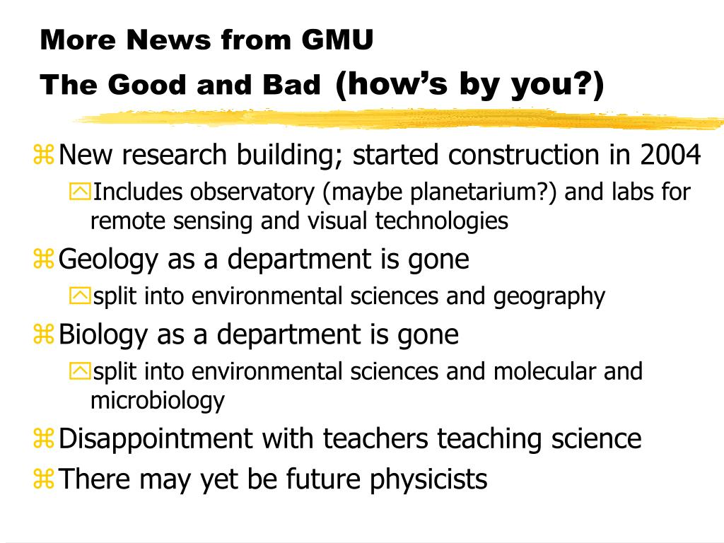 More News from GMU