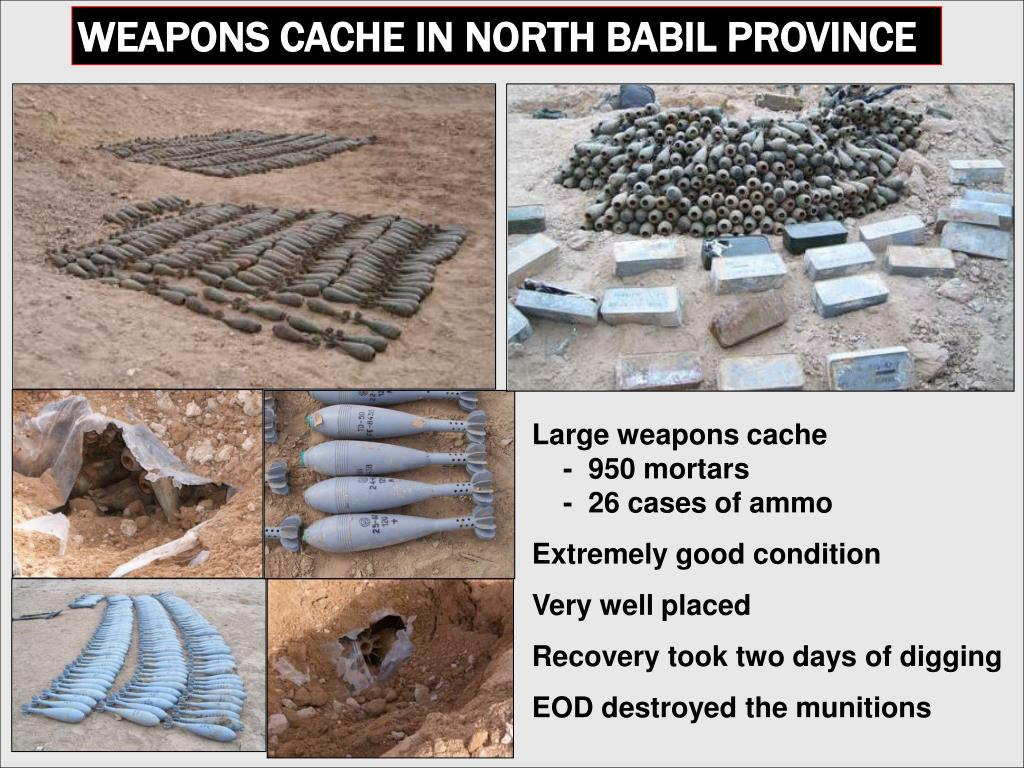 WEAPONS CACHE IN NORTH BABIL PROVINCE
