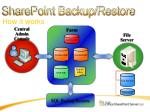sharepoint backup restore how it works