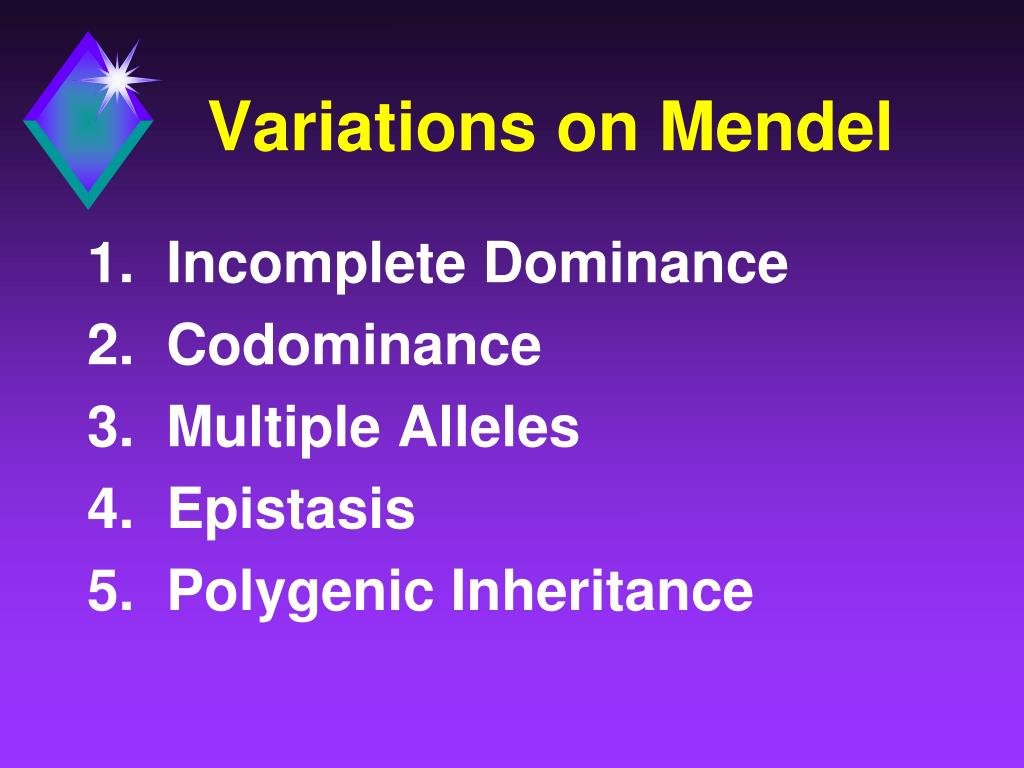 Variations on Mendel