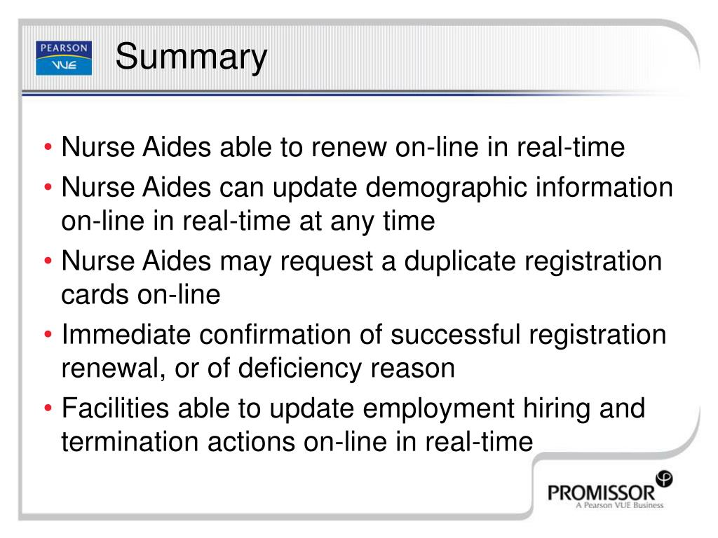 Nurse Aides able to renew on-line in real-time