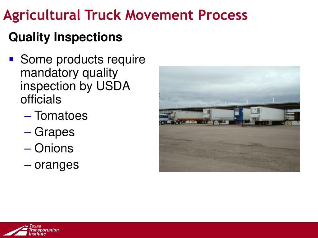 Agricultural Truck Movement Process