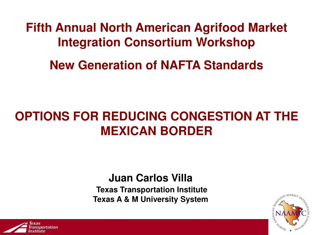 Fifth Annual North American Agrifood Market Integration Consortium Workshop