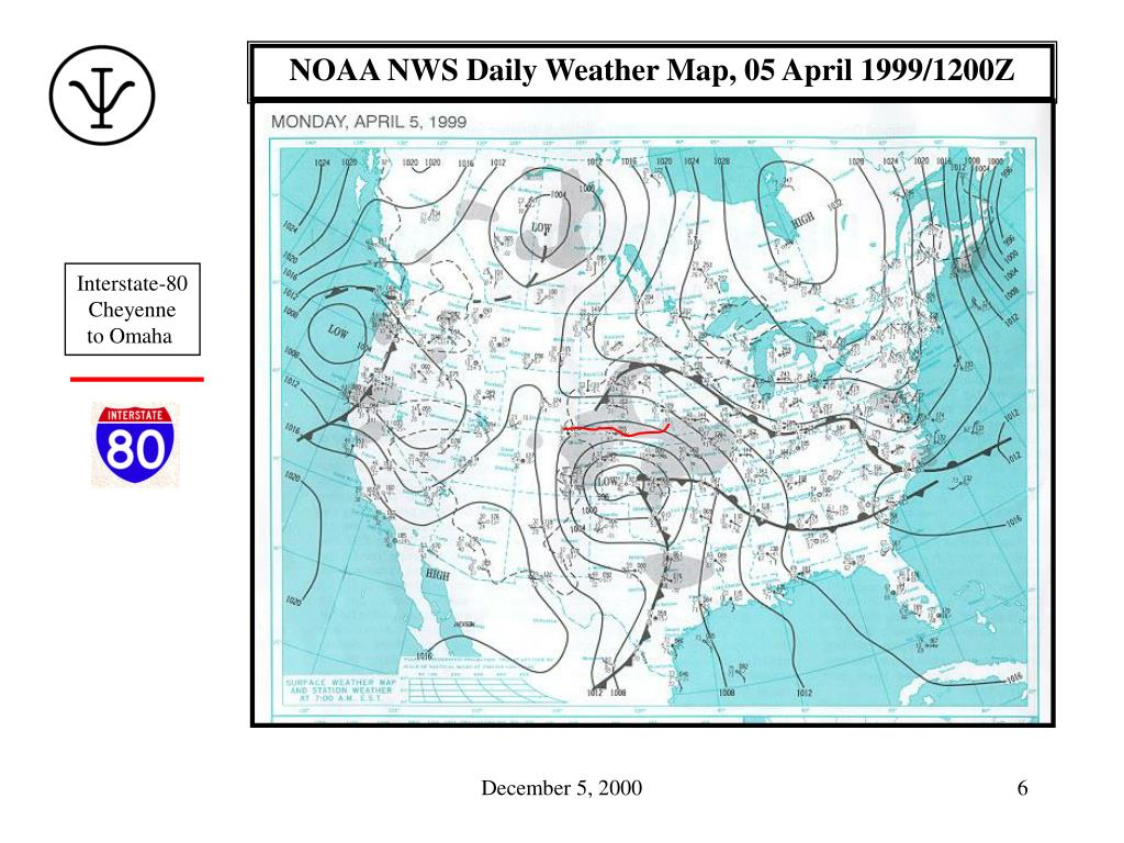 NOAA NWS Daily Weather Map, 05 April 1999/1200Z