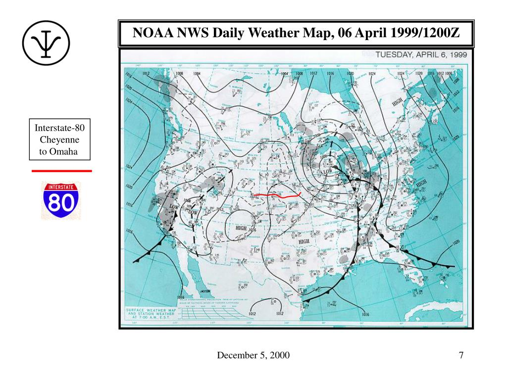 NOAA NWS Daily Weather Map, 06 April 1999/1200Z