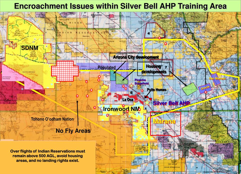 Encroachment Issues within Silver Bell AHP Training Area