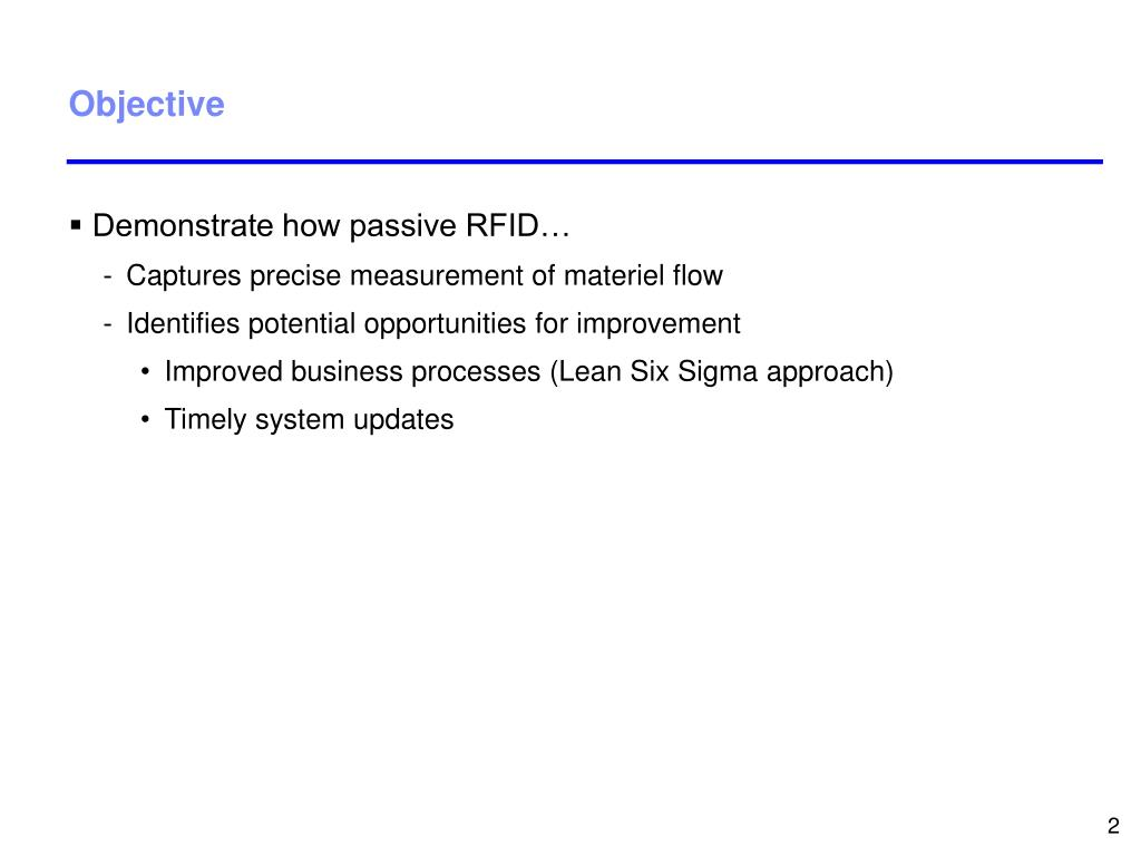 Demonstrate how passive RFID…