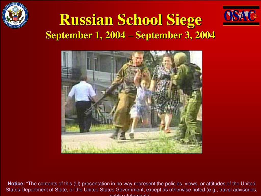 Russian School Siege