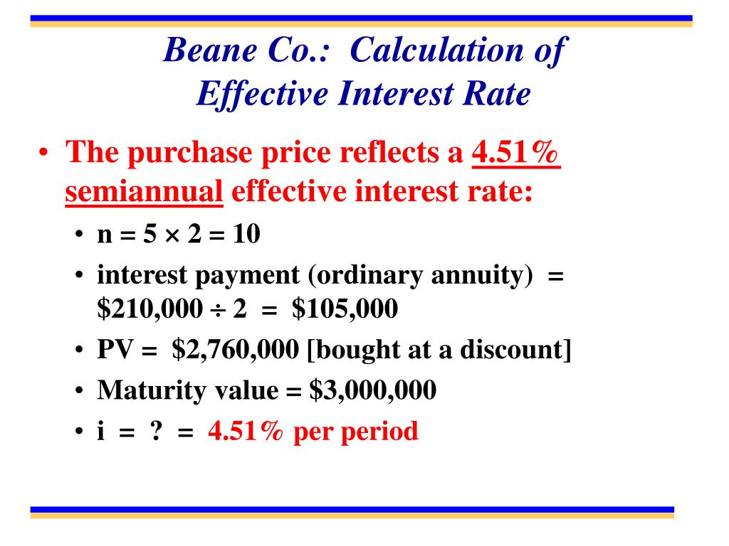 Beane Co.:  Calculation of