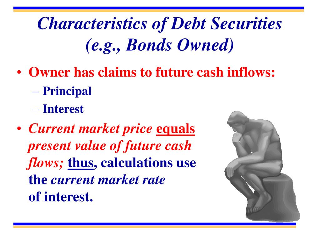 Characteristics of Debt Securities (e.g., Bonds Owned)