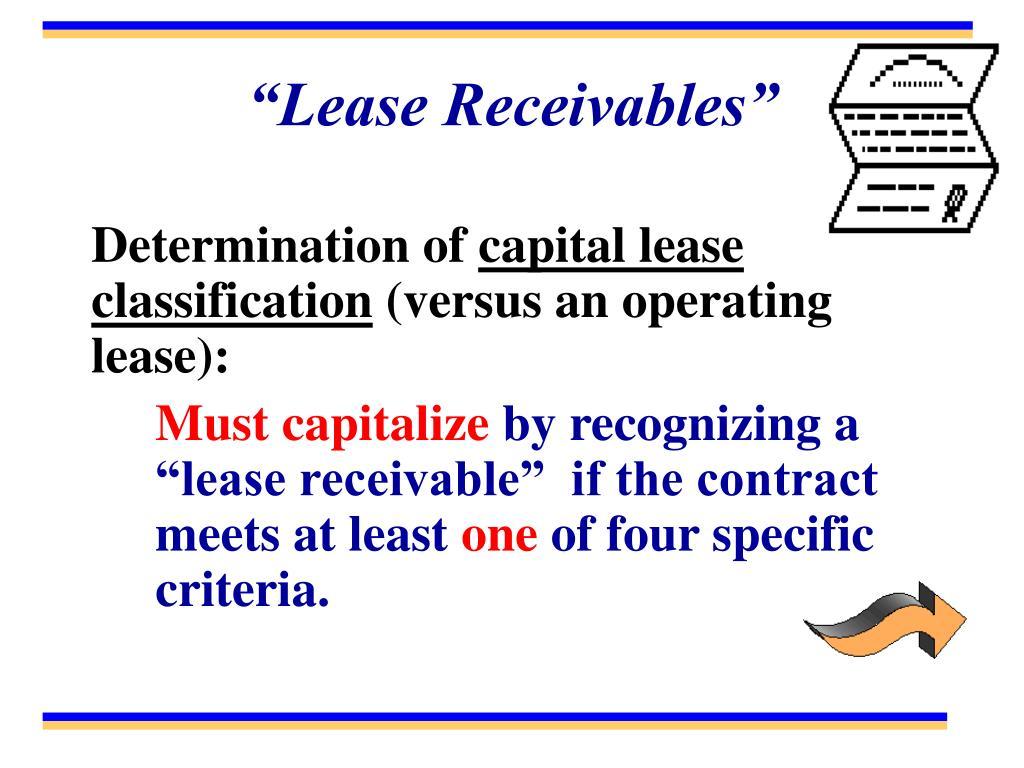 """""""Lease Receivables"""""""