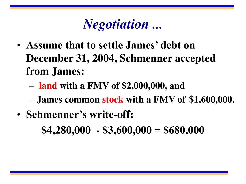 Negotiation ...