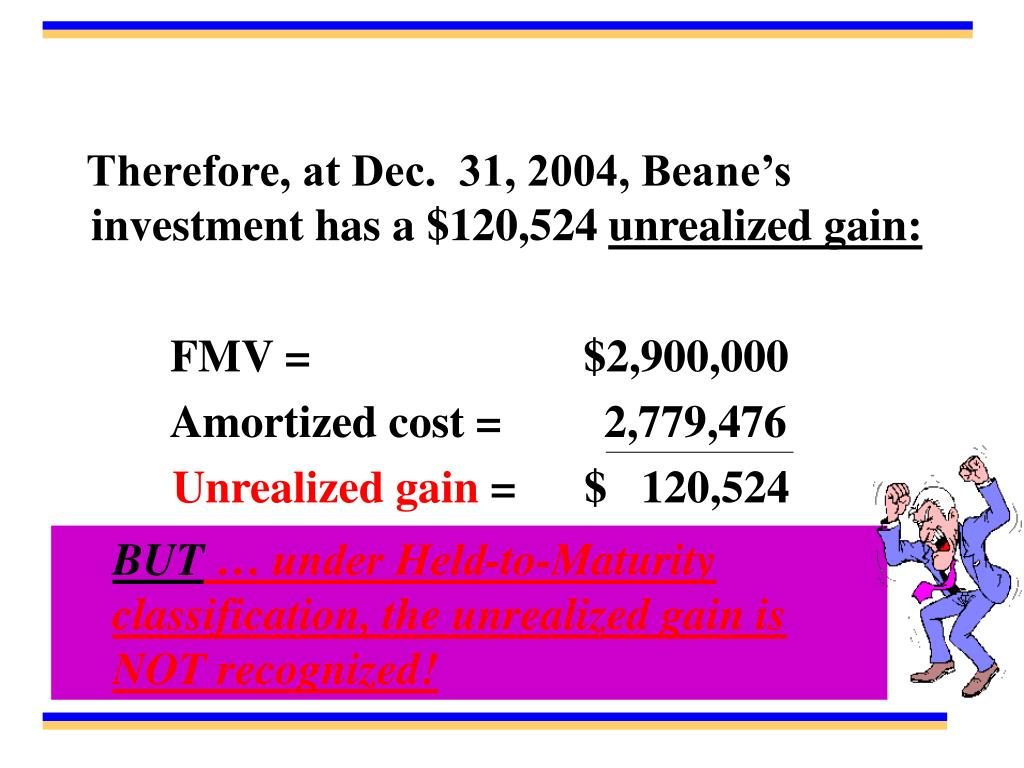 Therefore, at Dec.  31, 2004, Beane's investment has a $120,524