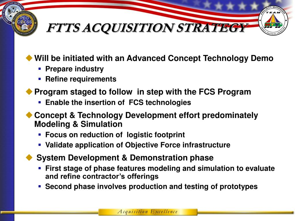 FTTS ACQUISITION STRATEGY