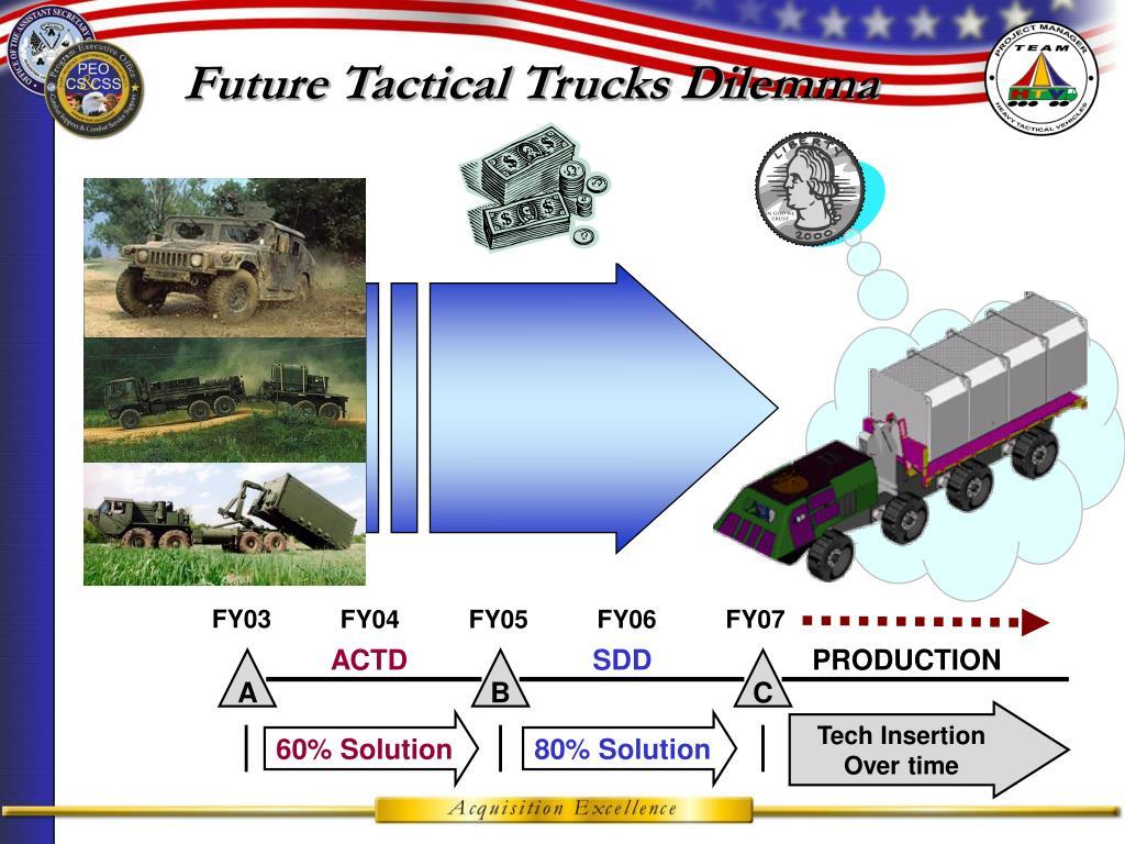 Future Tactical Trucks Dilemma