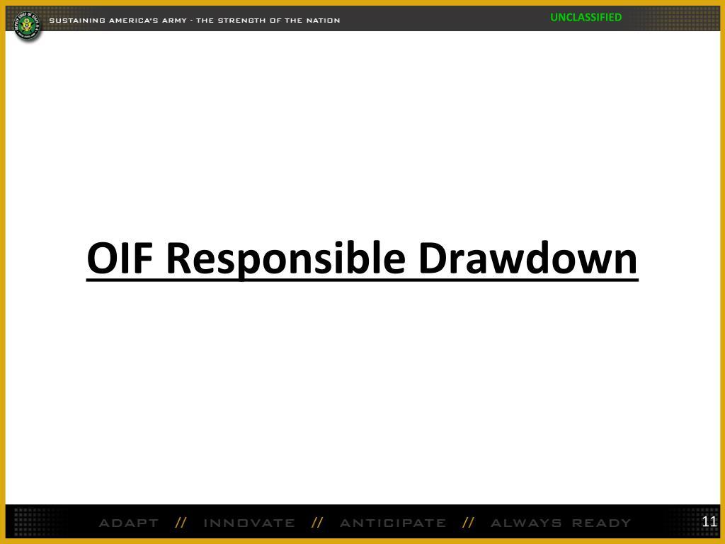 OIF Responsible Drawdown