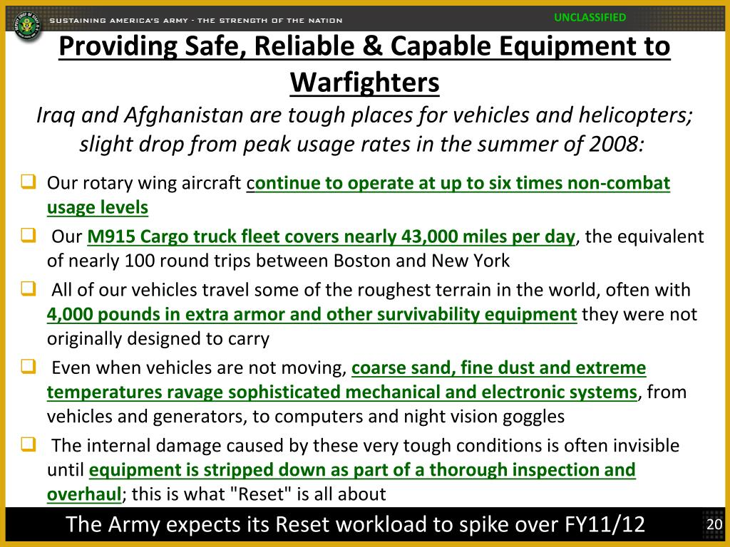 Providing Safe, Reliable & Capable Equipment to Warfighters