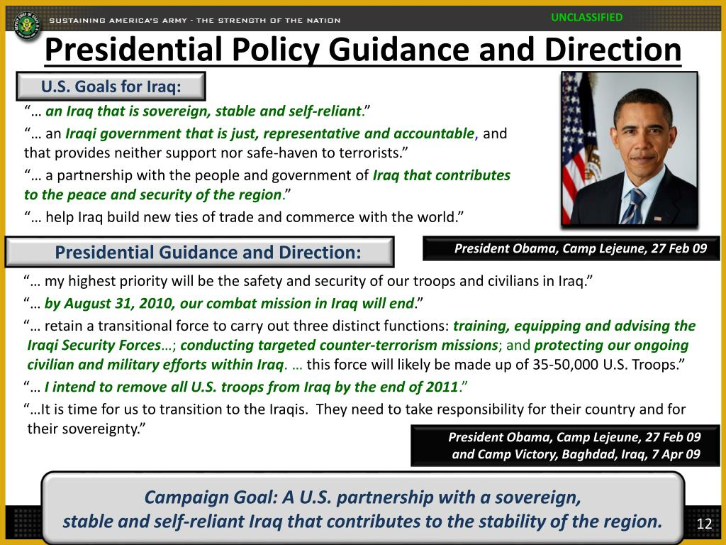 Presidential Policy Guidance and Direction