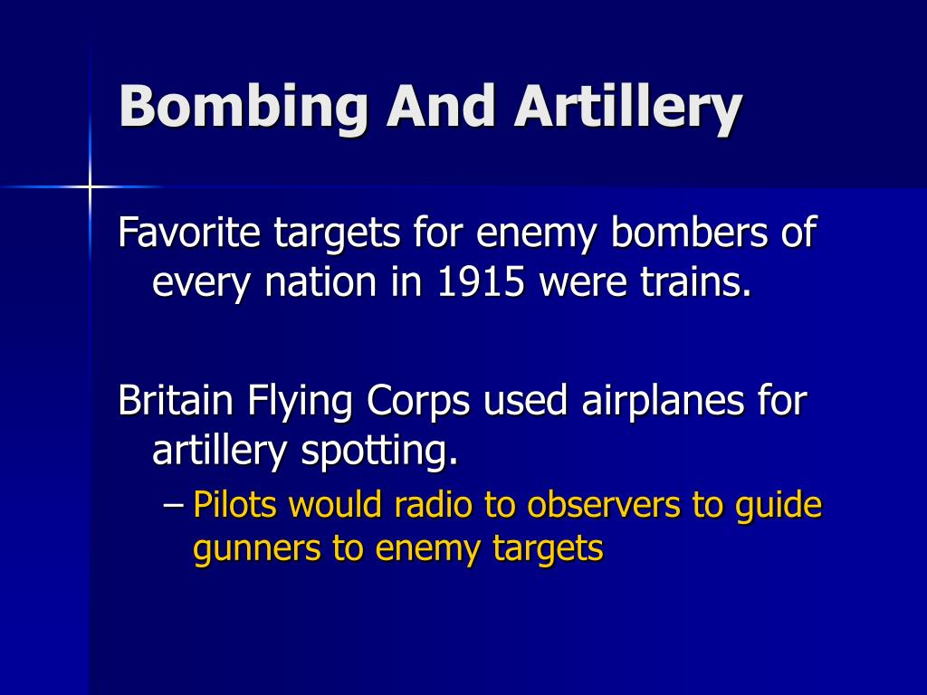 Bombing And Artillery