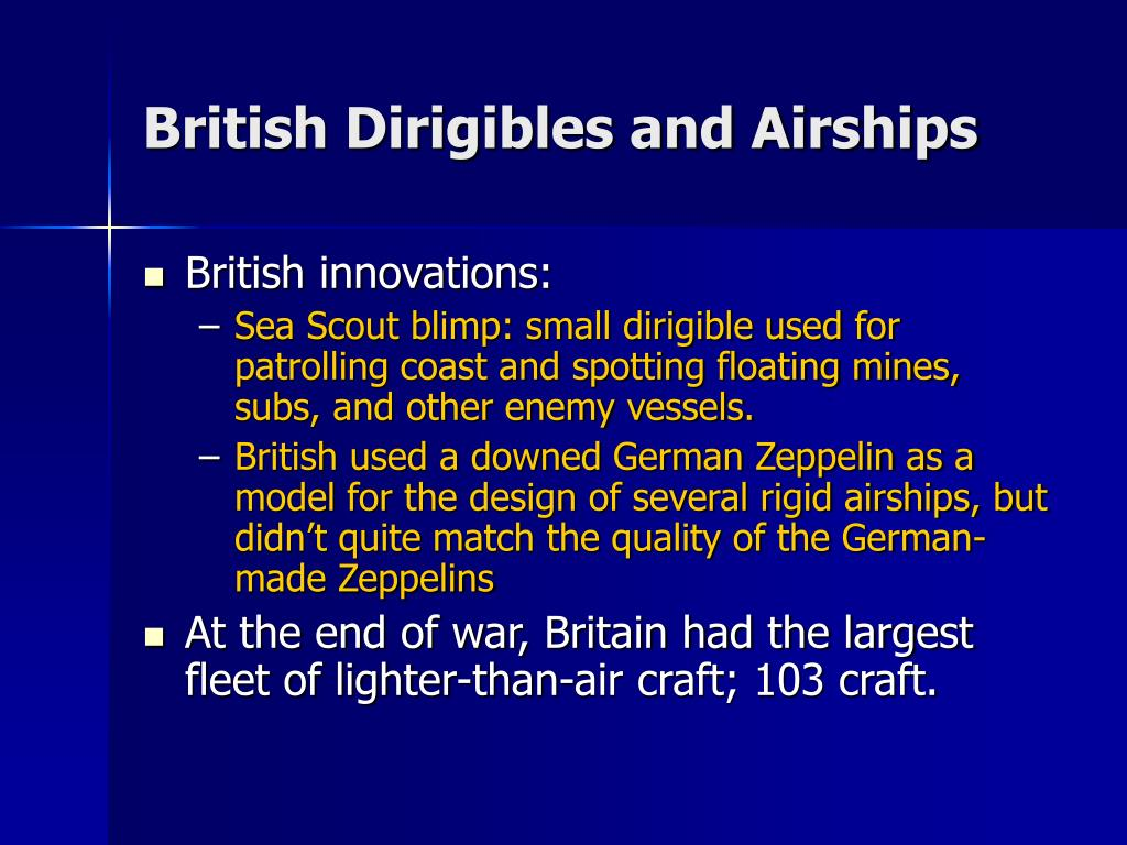 British Dirigibles and Airships