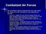 combatant air forces