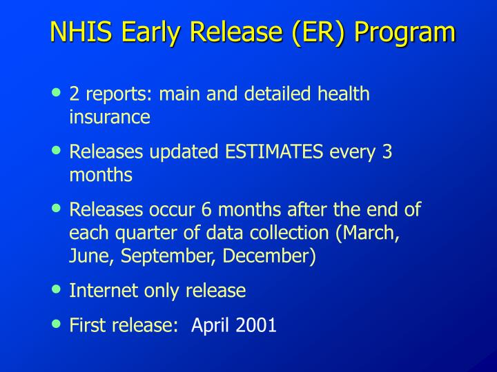 2 reports: main and detailed health insurance